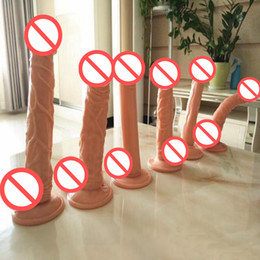 Wholesale Sexy Toy For Female Penis - Realistic Big Dildo Waterproof Realistic Penis with Textured Shaft and Suction Cup Sex Product for Women Sexy Toys Valentines Gift Sex Toys