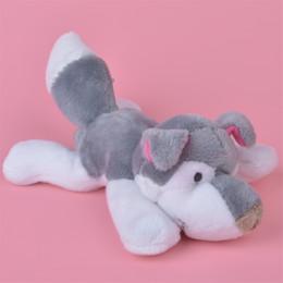 Wholesale Husky Toys - 5 Pcs Wholesale 10cm Grey Husky Dog Stuffed Animals Plush Fridge Magnet Toys, Learning & Teaching, Home Decoration Free Shipping