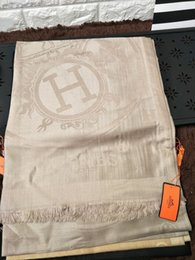 Wholesale polar brown - zhu H Check Women Wool Cotton Cashmere Silk Scarves Scarf Wrap Shawl SHINE SCARF 180x70cm