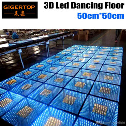 Wholesale Tunnels Usa - TP-E24 TIPTOP Wedding Decoration Mirror 3D Led Dance Floor With Time Tunnel Effect, 60PCS 5050 SMD Epistar Leds Mirror Reflect