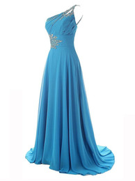 Wholesale Cheap Cocktail Dresses For Weddings - Chiffon Cheap Bridesmaid Dresses 2017 Summer One-Shoulder Bead Decoration Ruched For White Wedding Custom Made Under 100