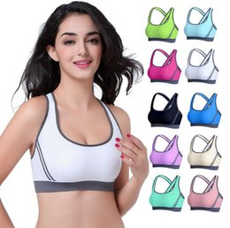 Wholesale Ordering Bra Wholesale - Yoga suits for Women fashion Padded Top Professional Athletic Vest Gym Fitness Sports Bra Stretch bikini Style Seamless Bra Yoga Outfits