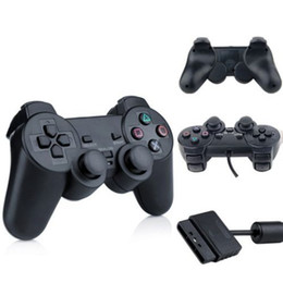 Wholesale Ps2 Controller Wired - High Quality For PS2 Controller Wired Dual Vibration Joystick For PS2 Playstation 2 Controller DHL free shipping