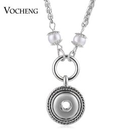 Wholesale Pearl Snaps - VOCHENG NOOSA Simulated-pearl Necklace Ginger Snap Jewelry Petite 12mm Pendant NN-547