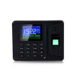 Wholesale Fingerprint Identification - Wholesale- Fingerprint Time Attendance Machine Identification Checking Recorder Employee Digital Electronic Reader Machine