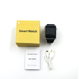 Wholesale Wholesale Iwatch - A1 Smart Watch Bluetooth DZ09 GT08 Touch Screen Smartwatch Apple iWatch Support SIM TF Card Smart Watches for Smartphone With Retail Package