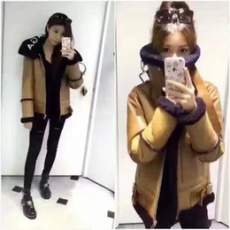 Wholesale Sheep S Wool - women New Paris Fashion Week high-end letters lead sheep fur coat female Locomotive short jacket