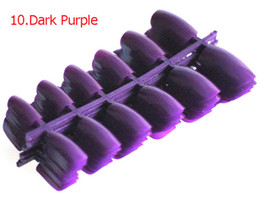 Wholesale Short Fake Nails - Wholesale- 120pcs Short Design Fake Nails Faux Ongles Full Cover False Acrylic Nails Artificial Design Tips #10 Dark Purple