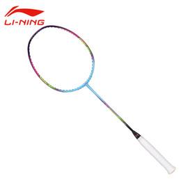 Wholesale Lining Racquets - Li-Ning WS72 Super Light 72g 30LBS Carbon Badminton Racket Soft Shaft Li Ning Flexible Racquet LINING Sports Rackets AYPM084