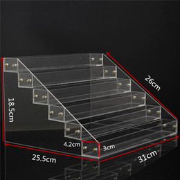 Wholesale Clear Nail Polish Wholesale - Wholesale- 1 Pcs 6 Tiers Removable Nail Polish Shelf Acrylic Clear Cosmetic Varnish Display Stand Rack Holder Women Makeup Organizer Case