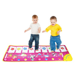 Wholesale Baby Blanket Patterns - Animal Pattern Baby Touch Play Keyboard Musical Toys Music Carpet Mat Blanket Early Education Tool Toys Two Version Random Sent