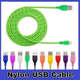 Wholesale I Phone Sync Cable - Micro USB Cable High Speed Nylon Braided Cables Charging Sync Data Durable 3FT 6FT 10FT Nylon Woven Cords For Sony LG For I Phone 5 6 7 8