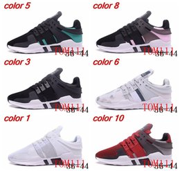 Wholesale Floor Free - 2017 New Originals EQT Support ADV shoes Women and Mens Running Shoes Sneakers Black Primeknit White Core Sports Shoe Free Shipping
