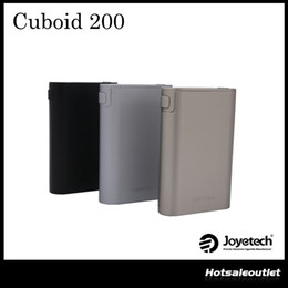 Wholesale Interface Boxes - Authentic Joyetech Cuboid 200 TC Box Mod New interface with Upgradeable Firmware Custom Logo and Preheat Function 100% Original