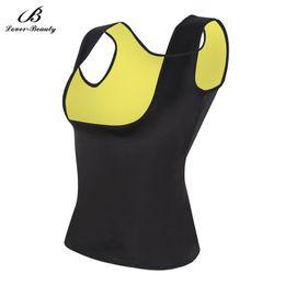 Wholesale Shapewear Tanks - Wholesale- Lover Beauty Hot Shapers Women Shapewear Weight Loss Neoprene Ultra Sweat Sauna Tank Top Vest Waist Trainers Slimming Girdles-L