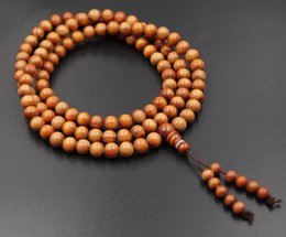 Wholesale Buddhist Bead Necklace Pendant - Sunyata@Natural 108*8mm raja kayu prayer beads Buddhist Buddha women Bracelets