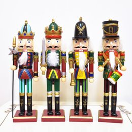 Wholesale Wooden Christmas Ornaments Wholesale - Hot 30cm Nutcracker Puppet Soldiers Home Decorations for Christmas Creative Ornaments and Feative and Parrty Christmas gift