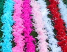 Wholesale Feather Boa Scarfs - new Glam Flapper Dance Fancy Dress Costume Accessory Feather Boa Scarf Wrap Burlesque Can Saloon ems to US #Z903