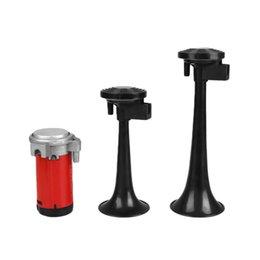 Wholesale Dual Truck Air Horns - Zone Tech Air Horn Dual Trumpet Truck Train Car Kit with Compressor 115DB Black