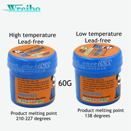 Wholesale Ic Chip Led - lead-free solder paste Tin paste for iPhone for Samsung BGA Solder Flux Paste Soldering Tin Cream CPU HDD chip ic repair