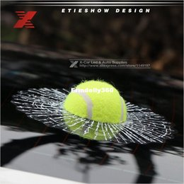 Wholesale Baseball Decals - 2016 Funny Car Stickers and Decals 3D Football Baseball Sticker Self Adhesive PVC EVA Auto Truck Window Film Wrap Car Styling