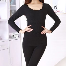 Wholesale Thick Thermal Underwear Velvet - Wholesale- Women winter thermal underwear suit thick velvet ladies thermal underwear women clothing female long johns