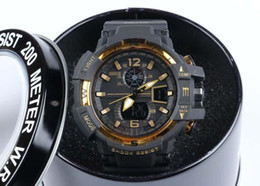 Wholesale G Shock For Men - GA1100+G box relogio men's sports watches, LED chronograph wristwatch, military watch, digital watch, good gift for men & boy, dropship
