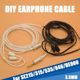 Mmcx кабели онлайн-Высокое качество 130 см DIY замена 3.5 мм MMCX разъем кабеля ремонт гарнитуры наушники 18 core медный провод наушники для Shure SE215 315 535