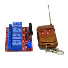 Wholesale Rf Radio Switch - Wholesale- 15-100m RF Wireless Remote Control Universal Remote Control 433mhz Radio Switch Transmitter Receiver DC12V 4 CH