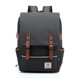 Wholesale Large Hipster - Wholesale- 2016 Canvas Casual Vintage Large Capacity Travel Bag Hipster Laptop Computer Rucksack Package Men Daily Backpacks Daypacks 1050t