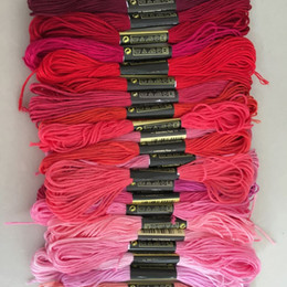 Wholesale Sew String - Sewing Supplies Tool Cross Stitch Thread Solid String 100 PCS In One Lot Woven Cotton Embroidery Threads Clothing Yarn Line 12qq D R