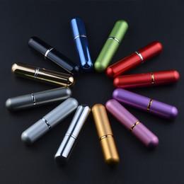 Argentina 6 ml colorido recargable Portátil Mini Perfume Traveler Aluminio Spray atomizador vacío Parfum Bottle Envío Gratis Suministro