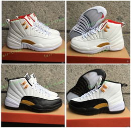 Wholesale Body Art Chinese - High Quality Retro 12 Chinese New Year 3M Reflect Men Women Basketball Shoes 12s Taxi White Black Gold Athletics Sneakers New With Shoes Box