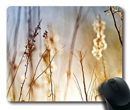 Wholesale Dry Grass - Comfortable Handle Mouse Pad Printed On Dry Field Grass
