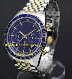 Wholesale Gents Bracelets - Luxury Mens Watch Top quality Brand New Blue Tazio Gents Two Tone Bracelet Watch 6088 Quartz Men's Watches