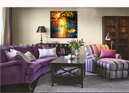 Wholesale Hand Painted Water - Hot living room bedroom hand painted frameless villa hotel landscape water does not fade decorative painting