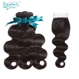 Wholesale Queens Brazilian Body Wave - Brazilian Body Wave With Closure Unprocessed Queen Love Weave 7a Brazilian Virgin Hair With Closure 3 Bundles 100% Human Hair And bundles