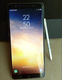 Wholesale 3g Phone Unlocked Wcdma Gsm - 6.3 Inch Full Screen Goophone Note 8 Quad Core MTK6580 Android 7.0 1GB RAM 8GB ROM 1280*720HD 8MP Camera 3G GSM WCDMA Unlocked phone