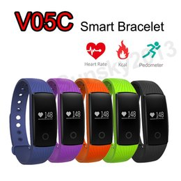 Wholesale Add Heart - Smart Band Bluetooth Bracelet Sports Wristband V05C Smartband Heart Rate Monitor Fitness Activity Tracker VS ID107 Can Add Extra Band
