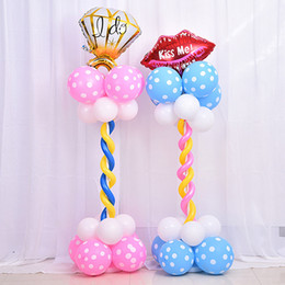 Wholesale Party Supply Kits - Balloon Decor Column Base Stand Display Kit Wedding Supplies Wedding Balloon Event Inflatable Birthday Party Decor Children's Birthday