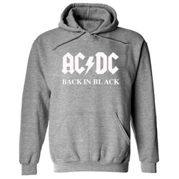 Wholesale Dc Pullover Hoodie - Fashion AC DC band rock sweatshirt Men acdc Graphic Print Casual fleece hoodies 2017 autumn winter harajuku tracksuits pullovers