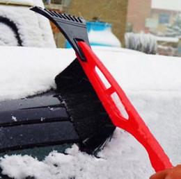 Wholesale Car Snow Brushes Scrapers - Hot 2 in 1 Ice RemoveTool 1pcs Car Winter Ice Scraper Snow Brush Auto Truck Window Retractable Shovel Removal Brush Shovels