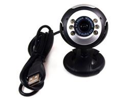 Wholesale pc web cams - 12MP Mic Webcam USB 6 LED Web Cam Camera Camcorder for Laptop Pc Online MSN Skype New