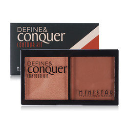 Wholesale Minerals Kit - Wholesale-Brand Shimmer Glitter + Matte Contour Palette Mineral Face Skinfinish Setting Pressed Powder Makeup Kit Set Bronzer Highlighter