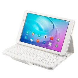 "Wholesale Tablet Cover Bluetooth Keyboard - FDR-A03L Detachable Wireless Bluetooth Keyboard Stand Leather Cover Case For Huawei MediaPad M2 Youth Version 10.1"" Tablet"