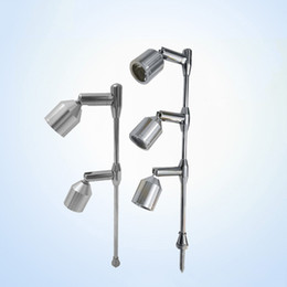 Wholesale Modern Garden Lights - Led Counter Spot lights Modern Spot Lamp Height Adjustable Lamp Directional indoor Spotlight with 2 Leds Light White Warm White