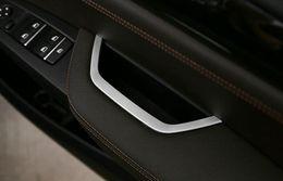 Wholesale Drive Box Bmw - Interior door main drive storage box decal cover trim for BMW X3 F25 X4 F26 2011-2015 Chrome ABS strip 3D sticker