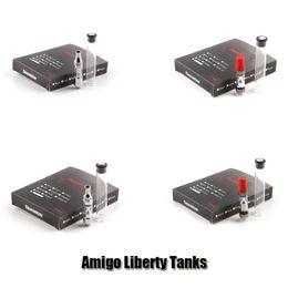 Wholesale Cartridge V9 - Authentic Amigo Liberty V1 V3 V5 V6 V7 V8 V9 Tank Vertical Ceramic Coil 510 Oil Bud Touch Vaporizer Cartridges