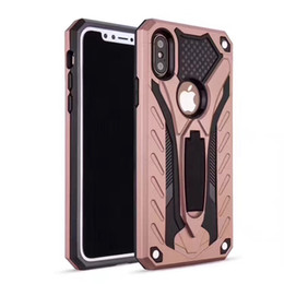 Wholesale Iphone 5s Stand Case - Hybrid Heavy Duty Defender Shockproof Cover with Kickstand holder Stand case For iPhone X ten 10 6 6S 7 8 Plus 7plus 6Plus 5 5S SE Protector