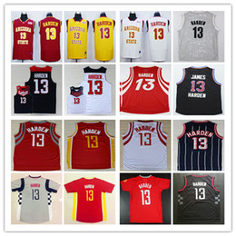 Wholesale Cheap Mens James Harden Jersey Red Clutch City Blue Black White Yellow Arizona State Sun Devils College James Harden Basketball Jerseys